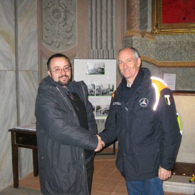 Luca e Franco Gabrielli, allora capo della Protezione Civile